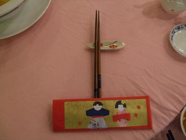 精緻的筷架