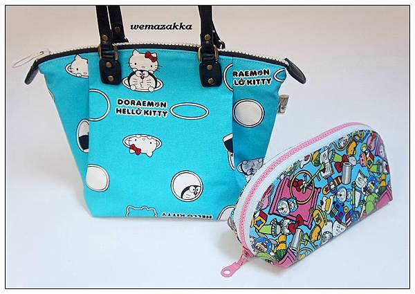 哆啦A夢手提包+化妝包