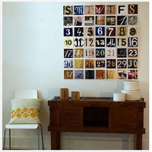 Calendar on the wall- Handmade project.JPG