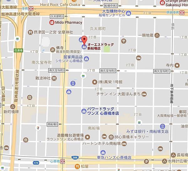OS DRUG新船場店位置.JPG