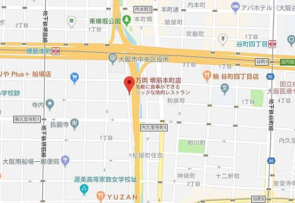 万両 堺筋本町店位置.JPG