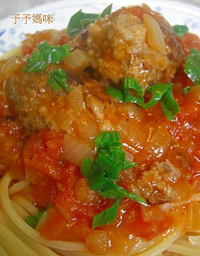 蕃茄肉丸義大利麵2
