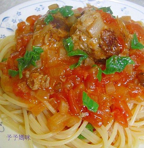 蕃茄肉丸義大利麵3