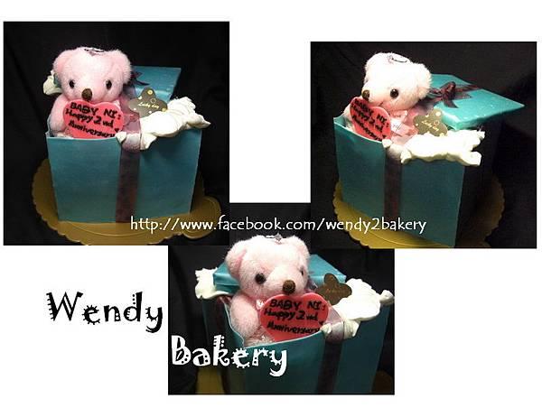227禮物盒1 - 糖皮造型蛋糕