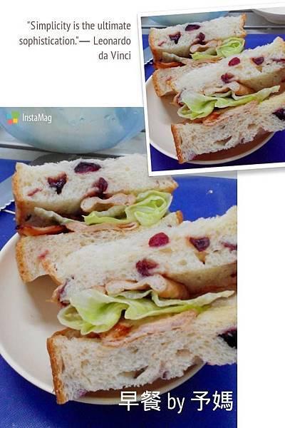 蔓越莓豬排三明治