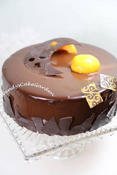杏子巧克力蛋糕