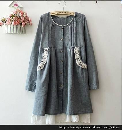 日本牛仔布洋裝 520