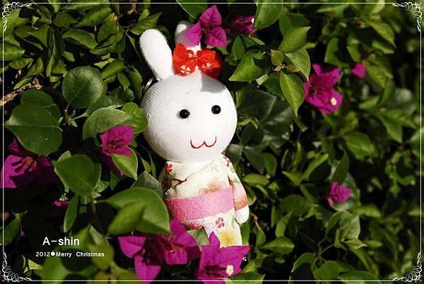 襪娃-和服兔