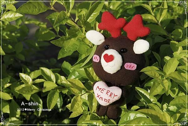 耶誕麋鹿熊