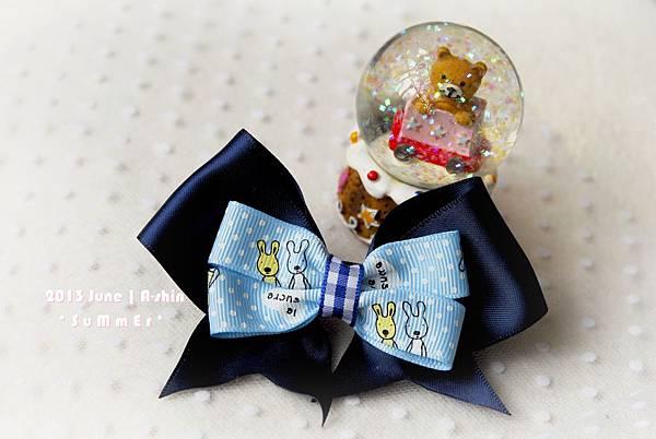 簡單童趣緞帶髮夾