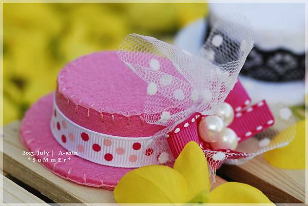 俏麗粉紅小禮帽