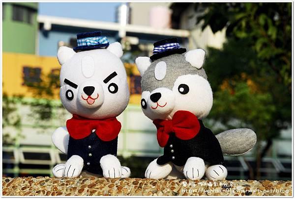 狐狸犬&哈士奇婚禮襪娃
