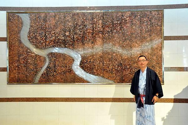 層雲閣飯店大廳的石造地圖