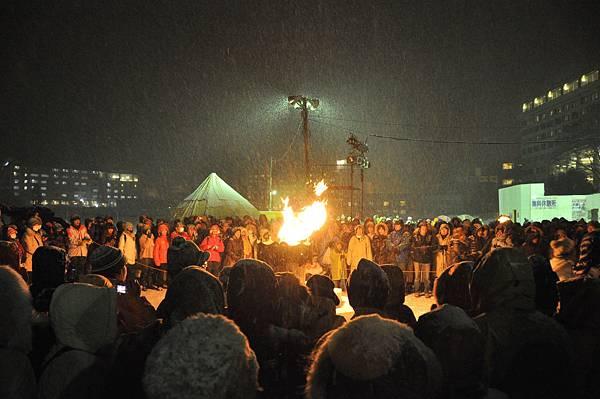 阿寒湖冬華美祭,每晚都有表演