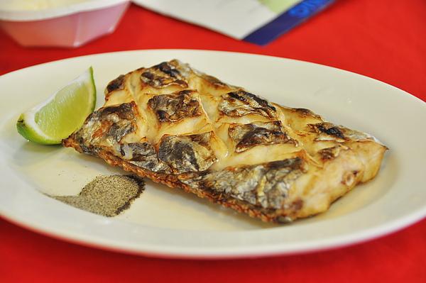 第二道,白帶魚,應該是烤的吧