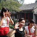 三個很可愛的女孩在北海公園..JPG