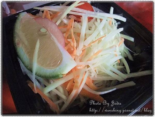 全家。泰式青木瓜沙拉&泰式椒麻雞