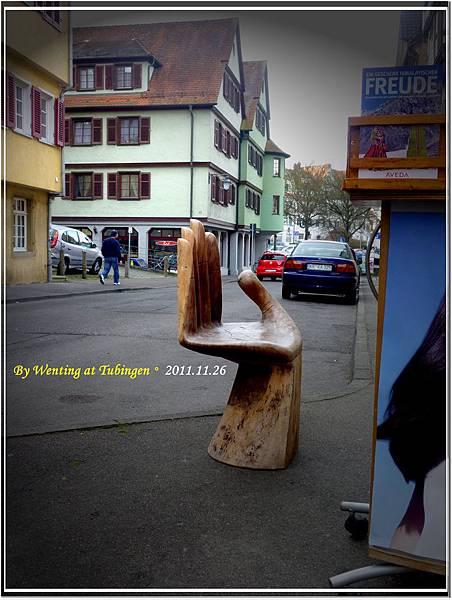 街上偶然看到有趣的座椅