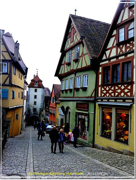 The path of Rothenburg ob der Tauber