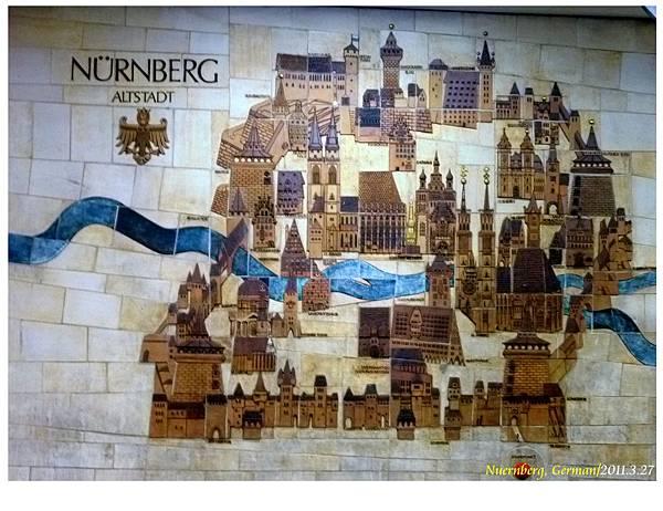 """於中央車站地下道之""""紐倫堡""""古地圖"""