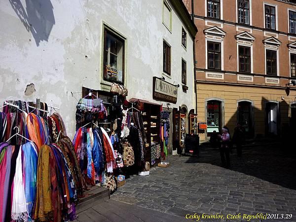 滿是賣紀念品的街道