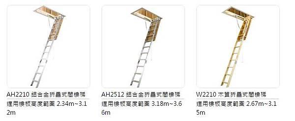 閣樓梯 種類 鋁梯 梯子 好用推薦 穩耐 進口