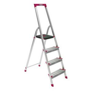 大平台家用梯 L230系列 鋁合金寬踏板家用梯-L234R-5 鋁合金寬踏板4階梯
