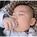 120114-在菜園裡熟睡的嬰兒