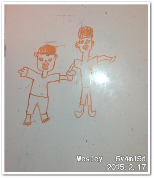 Wesley畫的