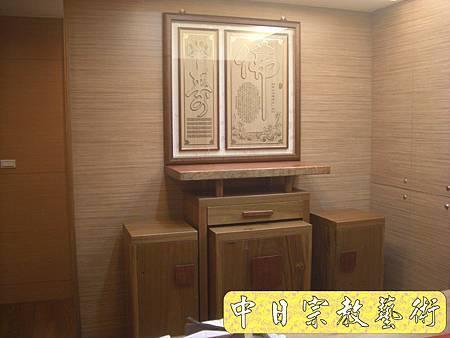 超現代感樟木神桌 檜木神聯 佛桌神像佛像神聯佛聯N5201e.jpg