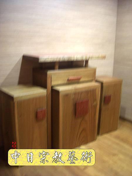 超現代感樟木神桌 檜木神聯 佛桌神像佛像神聯佛聯N5204e.jpg