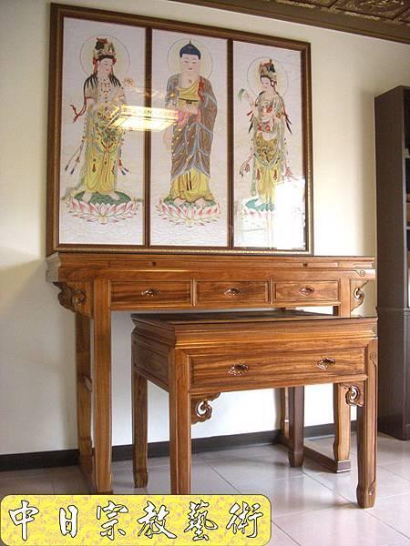 柚木明式供桌 手繪西方三聖神桌佛桌神像佛像神聯佛聯N5302E.jpg