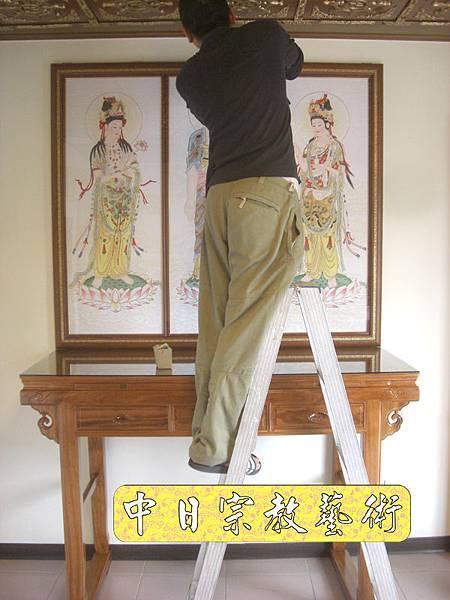 柚木明式供桌 手繪西方三聖神桌佛桌神像佛像神聯佛聯N5307E.jpg