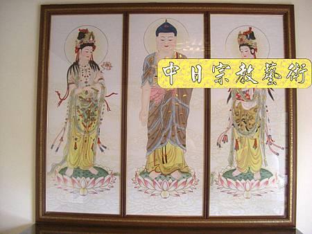 柚木明式供桌 手繪西方三聖神桌佛桌神像佛像神聯佛聯N5312E.jpg