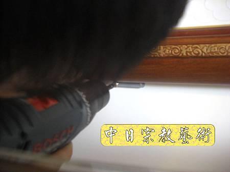 柚木明式供桌 手繪西方三聖神桌佛桌神像佛像神聯佛聯N5325e.jpg