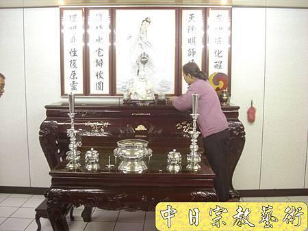 一貫道佛堂 紅木神桌 立觀音像 佛桌神龕佛龕神像佛像佛俱N5401E.jpg