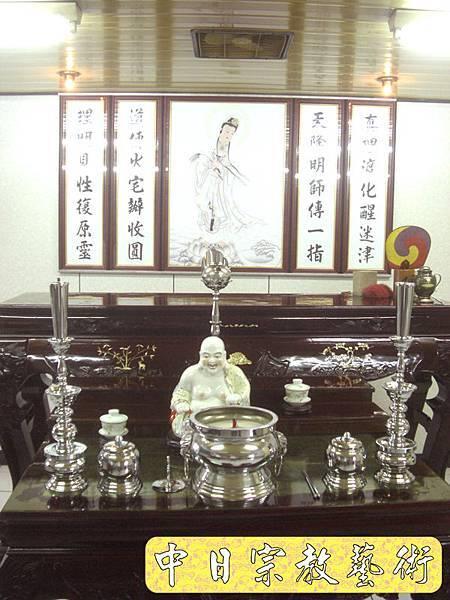 一貫道佛堂 紅木神桌 立觀音像 佛桌神龕佛龕神像佛像佛俱N5402E.jpg