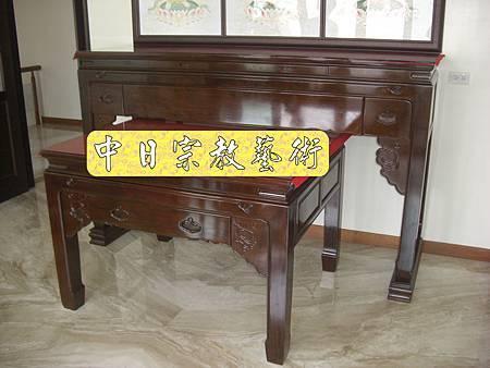 漢式如意神桌西方三聖7尺寬 佛桌神龕佛龕神像佛像佛俱N5502E.jpg