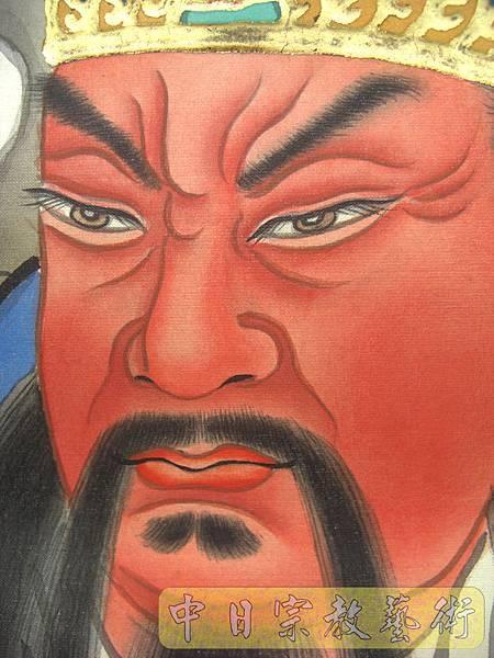關公手繪畫像 關聖帝君純手工神聯C4801.JPG
