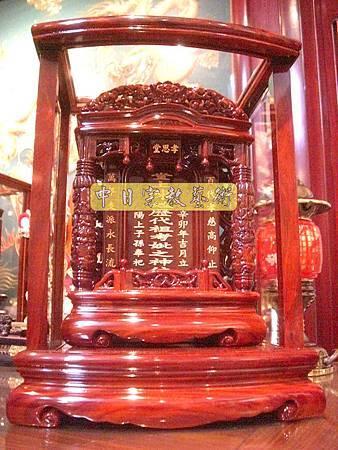 紫檀木雙柱祖先牌位公媽龕祖龕E3101.JPG