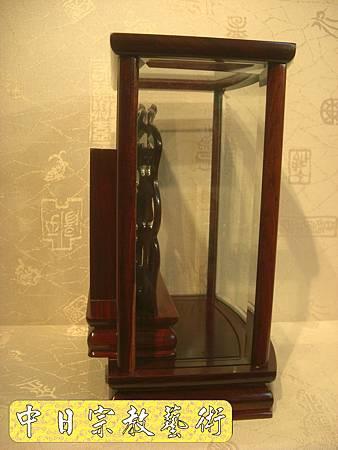 E3315.紅檀九品蓮如意祖先牌位(1尺貼金).JPG