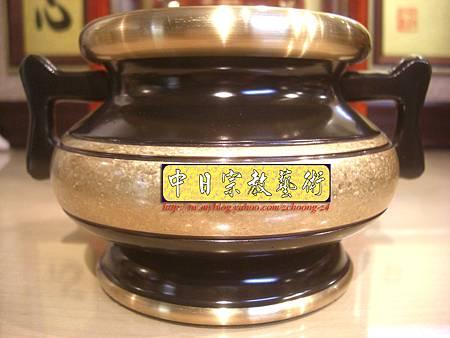 F2001.神桌香爐銅器精選 金邊祖爐 公媽爐 祖先香爐(仿古結晶).JPG