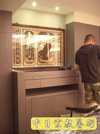 N8015.裝潢式佛櫥神櫥佛龕神龕 心經木雕聯