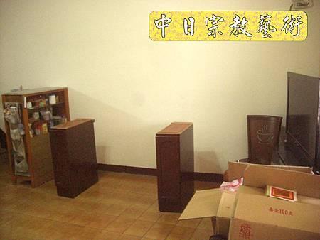 N8114.加高型佛櫥神櫥木雕觀音聯(4尺2寬)