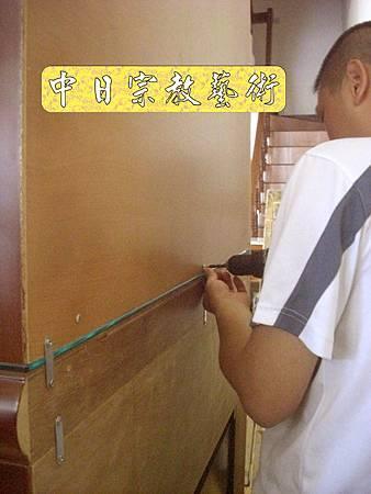 N8116.加高型佛櫥神櫥木雕觀音聯(4尺2寬)