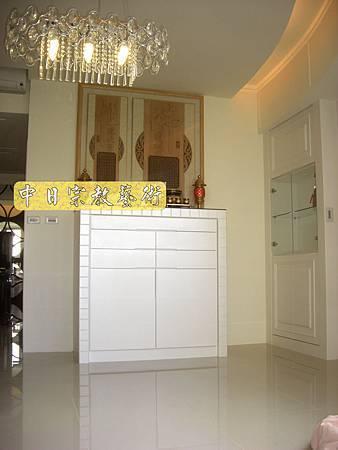 N8604.時尚神明廳空間設計 神桌娤潢 現代神聯