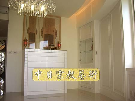 N8605.時尚神明廳空間設計 神桌娤潢 現代神聯