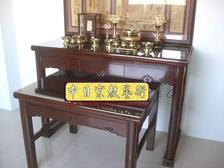 N9616.紫檀直腳如意神桌 5尺1可拆解式佛桌