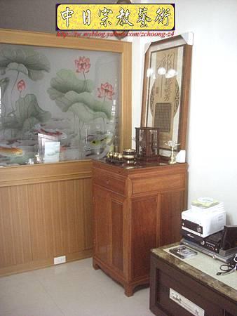N9903.現代居家公媽桌祖先聯對 水晶蓮花燈