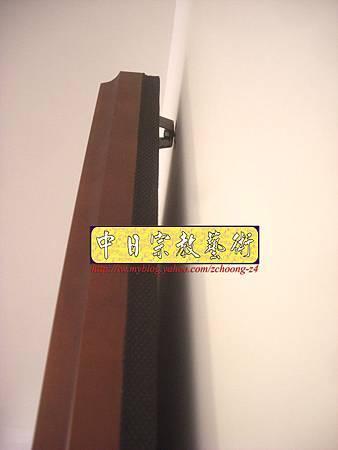 N10410.台灣梢楠木神桌拉米大腳 手繪西方三聖綢布佛畫